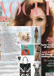 Ozakii London Bag in Vogue magazine